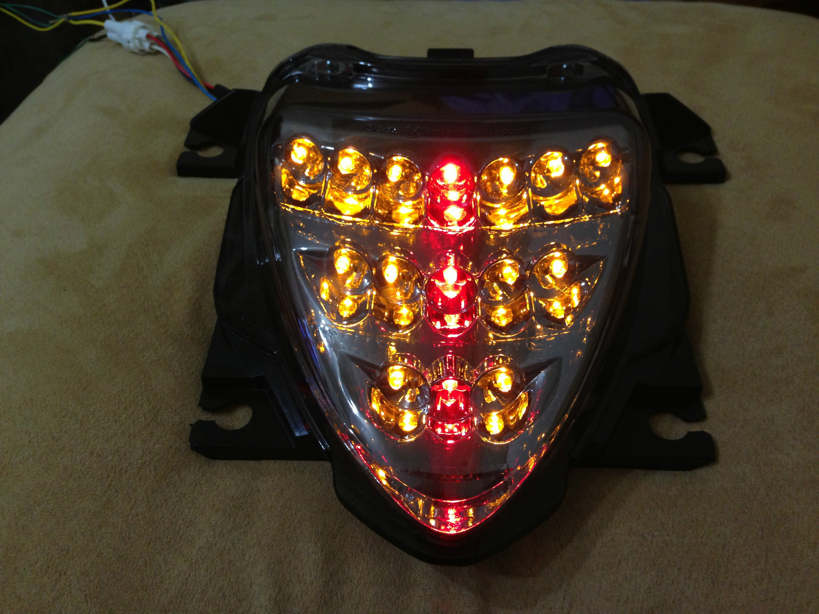 revo integrated led smoke tail light comes with flash. Black Bedroom Furniture Sets. Home Design Ideas
